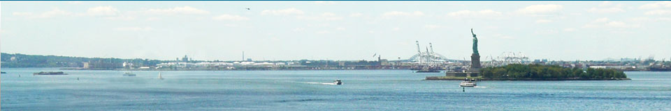Hudson River with Statue of Liberty
